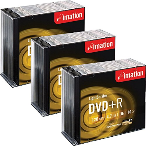 Imation DVD + R LightScribe - beschreibbare DVD im Slim Jewel Case, 16 x Speed, 120 Min, 4,7 GB