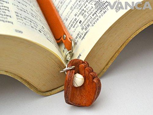 Baseball Handschuh Leder Charm Lesezeichen Vanca handgefertigt in Japan (Kinder Baseball-buch)