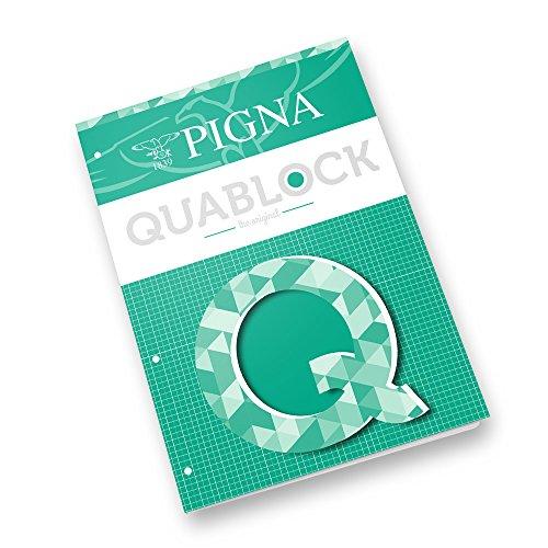 Pigna Quablock A4, Quaderni a Quadretti, 5 pezzi
