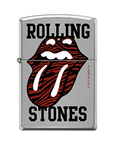 Zippo-Accendino, collezione primavera Rolling Stones 60,002.106 2016, colore: cromo spazzolato