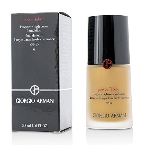 Giorgio Armani Power Fabric Longwear High Cover Foundation SPF 25 - # 6 (Medium, Warm) 30ml
