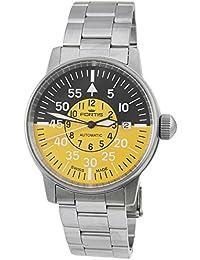 Fortis Aviatis hombre Flieger Cockpit amarillo reloj 595.11.14M