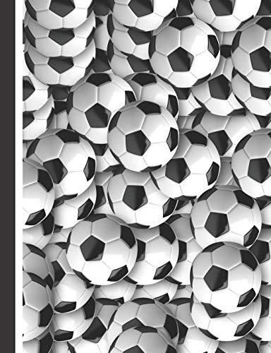 Fußball Notizbuch: Das Notizheft für Fußballspieler - 140 linierte Seiten für deine Notizen. Mit vielen Fußbällen für Trainer, Spieler oder Fans