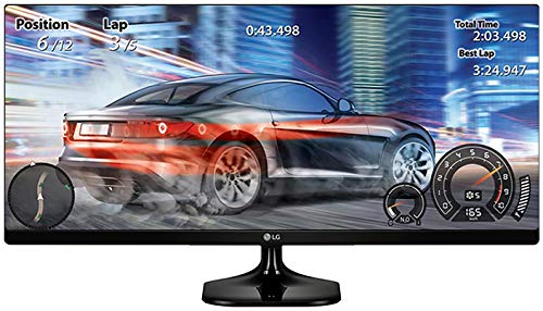 4. LG 25 inch 21:9 Ultrawide Gaming Monitor - Full HD, IPS Panel with, HDMI, Audio Out, Heaphone Ports - 25UM58 (Black)