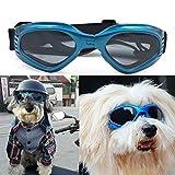 Zongsi Cane di animale domestico UV occhiali da sole Anti-vento occhiali da sole protettivi con cinturino regolabile per cucciolo cane