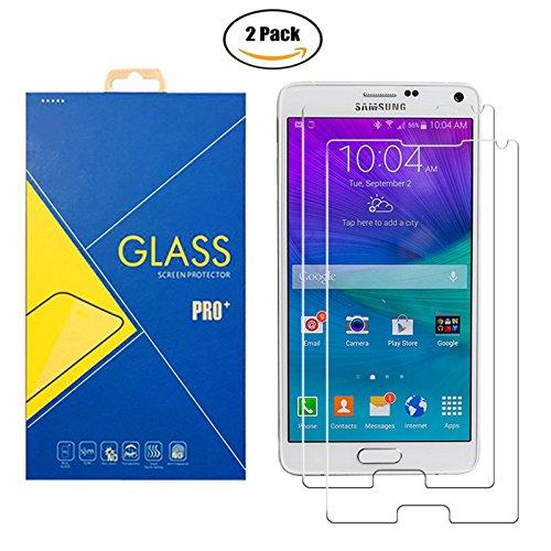 [2 Pack] Panzerglas Schutzfolie Samsung Galaxy Note 4 SM-N910 / N910F / N910H / N910C / N9100 / 910 / 910F / 910H / 910C / 9100 - Gehärtetem Glas Schutzfolie Bildschirmschutzfolie für Samsung Note 4
