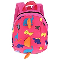 Aramox Safety Harness Backpack, Kids Toddlers Dinosaur Backpack with Safety Leash Anti-lost Bag for Boys Girls(Rose)