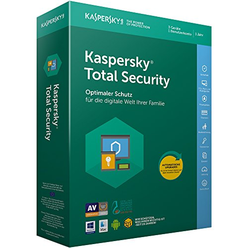 Kaspersky Total Security 2018 Standard, 3 Geräte, 1 Jahr, Windows/Mac/Android, Box Download