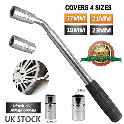 4 façons universel Écrou de roue pour le télescopique Clé 17 19 21 23 mm prises pour voiture véhicule Outil à Main de grande qualité
