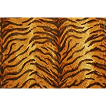 Tessuto al metro: Pelliccia sintetica cavallino pelo rasato fulvo tigrato
