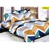 Danwrich Texture Comforter - Double Bed Luxurious Comforter Set - 4 Pc Set (1 Comforter + 1 Double Bedsheet + 2 Pillow Cover)