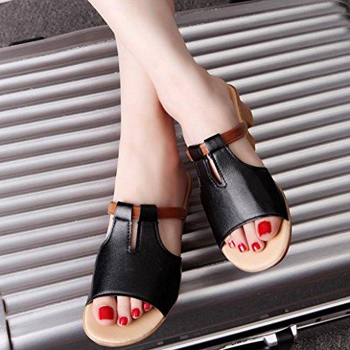 Schwarz Sandalen Slides Sommer Damen Strand Mode Hausschuhe Saingace Schuhe PX8wqnU