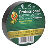 Duck Brand 393119 Professional Electrical Tape, 0.75-Inch by 66-Feet, Single Roll, Black by Duck