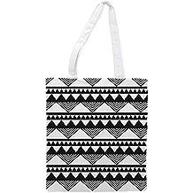 Blanco Negra Es Amazon Bolsa Zgq4cx6 Tela wtT6xqZ