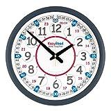 EasyRead Time Teacher Kinder-Klassenraum-Wanduhr, 35 cm, mit einfachem 2-Schritte-Lernsystem zum Lernen der 12- und 24-Stunden-Zeit. Alter 5-12.
