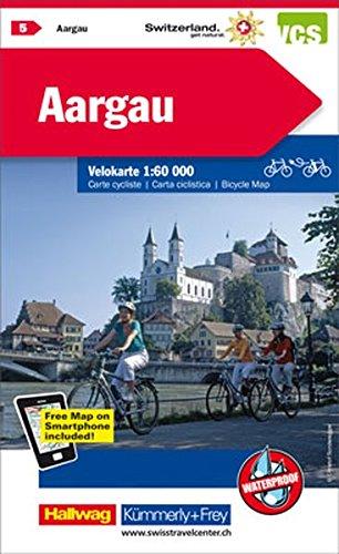 Preisvergleich Produktbild Aargau: Velokarte Nr. 5, Massstab 1:60 000, waterproof, Free Map on Smartphone included (Kümmerly+Frey Velokarten)