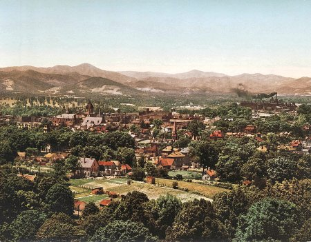 Asheville North Carolina Photochrom 1902 - Vintage US Street Scene Mouse Mat