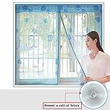 EQEQ Silk Road Klettverschluss Fenster magnetisch Weichem Garn Vorhang Moskito Mute Verschlüsselung für Schlafzimmer Küche Bildschirm Mesh-BrownA 80 x 120 cm (31 x 47 Zoll)