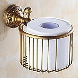 SPOLY Kupfer Rolle Tissue Holder Vintage Toilettenpapierhalter Golden Tissue Holders Wand-WC Lagerung & Organisation Rollenspender