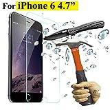 """Film vitre de protection �cran iPhone 6/6S ( 4,7 pouces) en verre tremp� haute transparence et ultra r�sistant (incassable, inrayable 9H) et Ultra Slim (0,26mm) avec bords arrondis, pour une protection optimal de votre t�l�phone iphone 6/6S (4.7"""")"""
