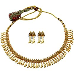 Banithani Banquete de boda india étnica tradicional dorado Wear Conjunto collar de la joyería