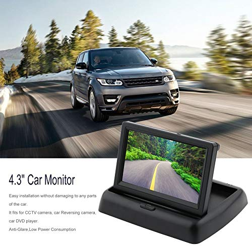 Yaoaomon YWX-430B 4,3-Zoll-TFT-LCD-Farb-Sicherheitsmonitor für das Fahrzeugsicherheitssystem schwarz -