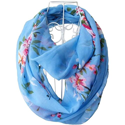 tapp-collections-multicolor-floral-print-infinity-scarf-blue