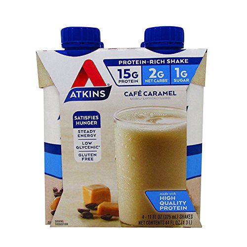 Atkins - Advantage Cafe Caramel Shake, 4 drinks -