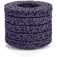 5 Unids Poly Strip Disco de Rueda Herramienta de Eliminación de óxido de Pintura Limpiador de Angulo de Calidad Limpia discos púrpura + oro 100mm 60#