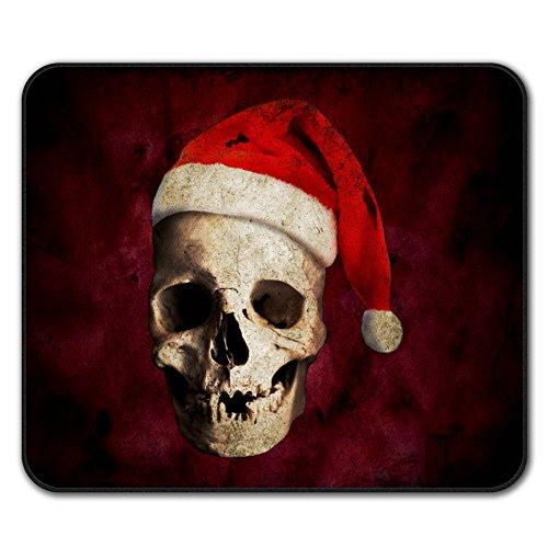 Kostüm Familie Skelett - Schädel Hut Weihnachtsmann Weihnachten Mouse Mat Pad, Weihnachten Rutschfeste Unterlage - Glatte Oberfläche, verbessertes Tracking, Gummibasis von Wellcoda