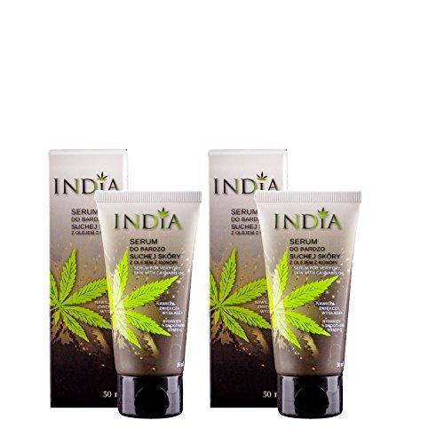 Serum Hautcreme im Doppelpack mit Cannabis Öl für sehr trockene Haut und bei Neurodermitis