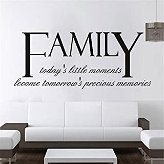 SMILEQ DIY Family Removable Wall Decal Home Quotes Sticker Mural Art Room Decor (A)