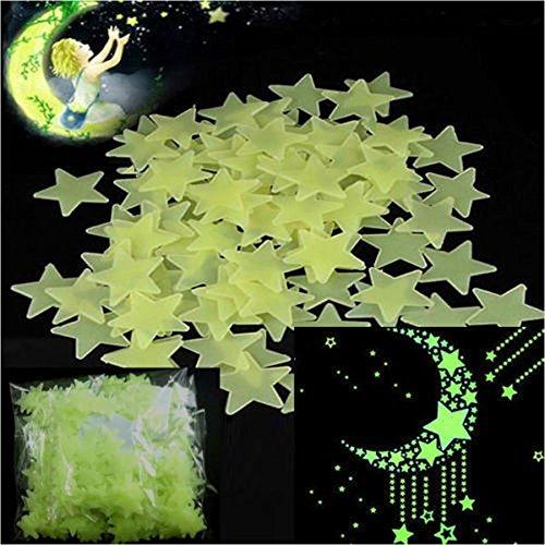 300 Stück Glühen Sterne Und In Das Dunkler Stern Aufkleber Decke Mauer Schlafzimmer Aufhellen Glühend Nurse Nacht Zimmer Dekoration (Glühen In Den Dunklen Sternen)