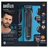 Braun MGK3085 Corta Barbas Hombre Todo en Uno 9en1 para Pequeños Detalles de Vello de Nariz y...