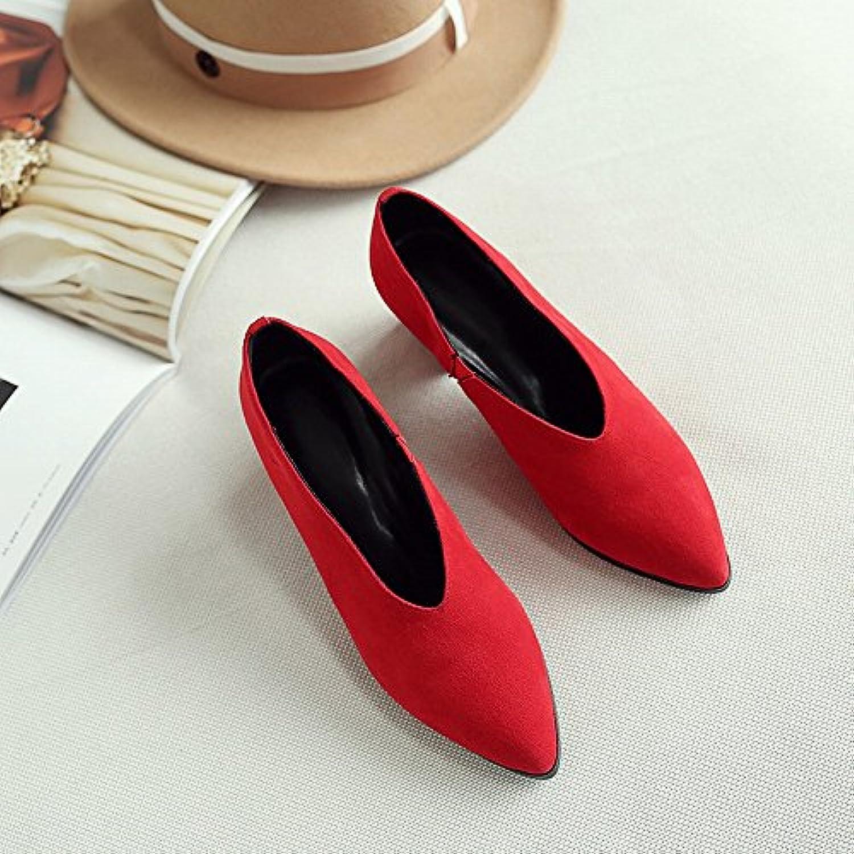 DIDIDD Los Zapatos Perezosos de Los Zapatos de Cuero de Los Altos Talones de la Primavera Temprana de la Primavera...