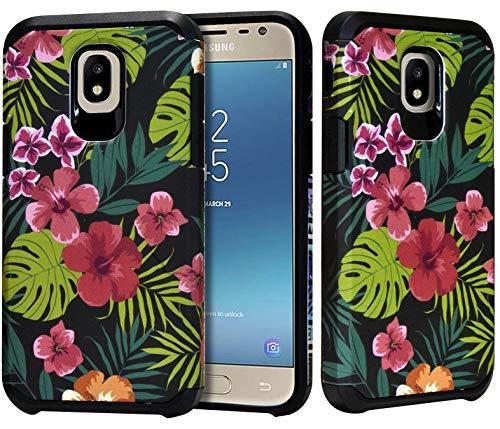 Schutzhülle für Samsung Galaxy J7 Refine, J7 Star, J7V 2018, J737, mit Standfunktion, strapazierfähig, schlank, langlebig, stoßfest, Palm Leaves
