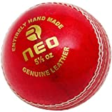 R-MAX Red Neo-A Leather Cricket Ball ( 4 Part Ball, Pack Of 1 )