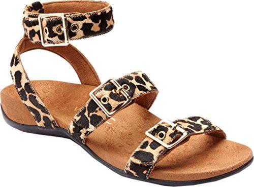 Vionic Womens Rest Sahara Backstrap Sandal Leopard Haircalf