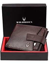 WildHorn® RFID Protected  Genuine High Quality Leather Wallet for Men(BROWN)