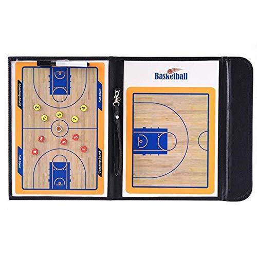 Faltbares Magnetisches Basketball-Taktik-Brett-Trainer-Brett-Befehls-Brett Wasserdicht Und Einfach Zu Tragen Tragbar Black