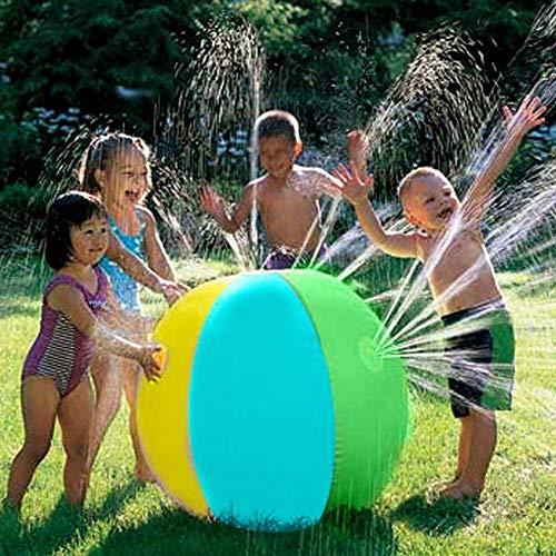 re Wassersprinkler Spielzeug Spritzer und Sprühball mit 4 Wasserausgießern, für den Garten, Pool, Strand, Spielen, Wasserdurchmesser, 7,6 cm Ball ()