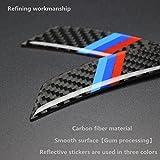 Biznon Set von 4 Auto-Styling Carbon Fiber Wheel Augenbrauen Anti ollision Protect Kotflügel Felgenband Aufkleber für B M W Serie 1 2 3 4 5 6 7 8 Z3 Z4 M3 M5 M6 X 1 X3 X 4 X5 X 6 Blau Rot