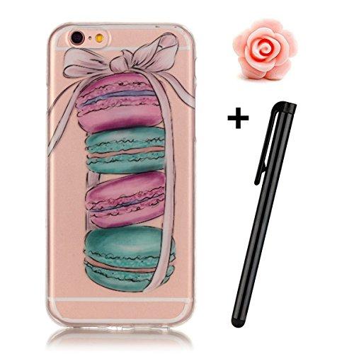 Custodia per Samsung Galaxy A32015, in morbido TPU, ultra sottile, trasparente, flessibile, SM-A300, TOYYM, colorata con disegno stampato, protettiva, motivo: fiore, con penna antipolvere Colour-23