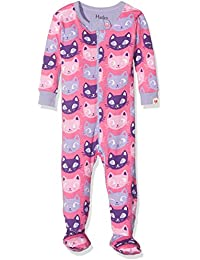 Hatley 100% Organic Cotton Footed Sleepsuits, Pyjama Bébé Fille, Rose/Multicoloured, 9-12 Mois