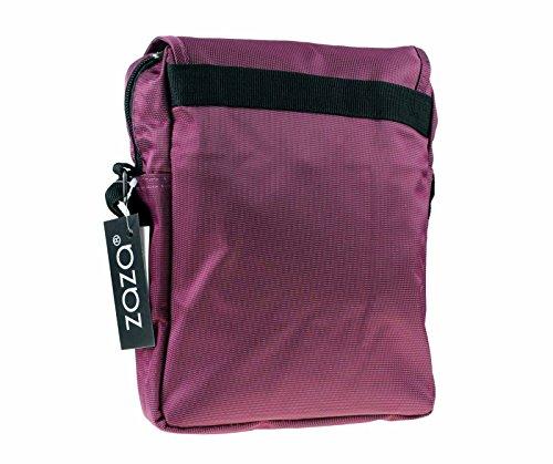 Sleek in Nylon Unisex da viaggio, con aletta sul lavoro misto marrone 2554 rosa