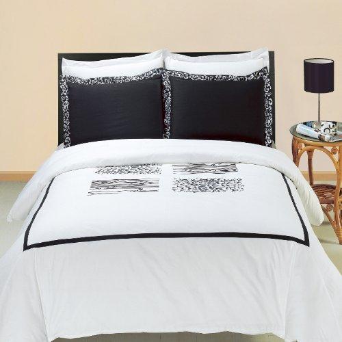 Burbank bestickt 8pc California King Size Bett In Einem Beutel Tröster Set 100% Baumwolle 300TC, inklusive 4Bettlaken-Set + 3-teiliges Bettbezug Set +, die Alternative Tröster von Royal Hotel Betten (Ägyptische Baumwolle Bett In Einem Beutel)
