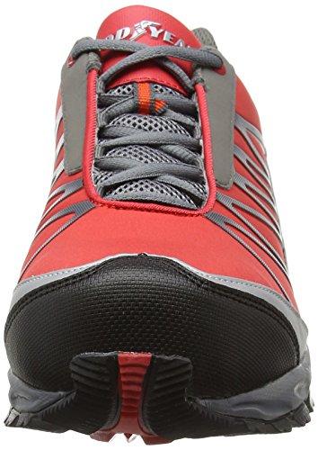Goodyear Gyshu1500, Chaussures de Sécurité Homme Rouge (Red/Black)
