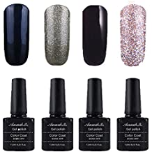 Annabelle Esmaltes Permanentes Para Uñas Nail Art Soak Off UV LED Esmalte Permanente de gel (Lot 4 pcs 7.3ML/pc ) 0101