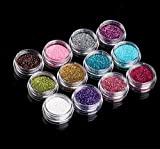 12PCS color glitter Dust Powder tip Decoration nail art glitter shaker per bambini bambini Craft attività, Arts & Crafts, biglietti, decorazioni [varie.]
