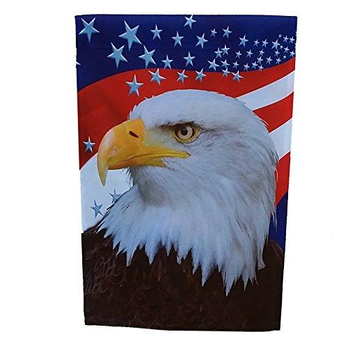 GiftWrap Etc. Geschenkpapier Etc. Große Patriotische Garten USA Flagge-Rot, Weiß, und Blau Sterne, American Eagle, Dekorationen für Vierte von Juli, Veteran 's Day, Memorial Day, 71,1x 101,6cm